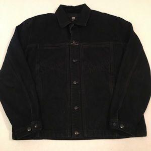 Vintage Marithe François girbaud denim logo jacket